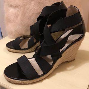 Tahari jute 3 inch wedge strappy sandals!!